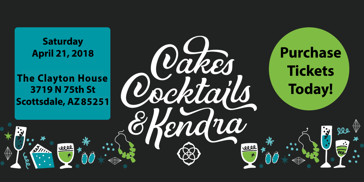 Purchase Your Tickets for Cakes, Cocktails & Kendra Today!